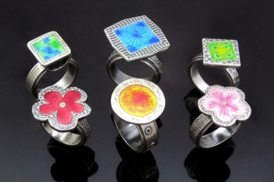 Enamelled Rings 3 by JoyFunnell