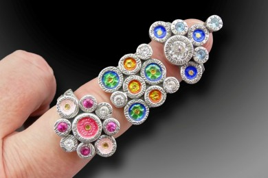 Juxtaposing Rings on finger_Joy Funnell_