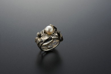 Ring silver clay Germogli – shoots