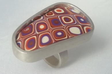 Ring silver clay, Polymer Clay