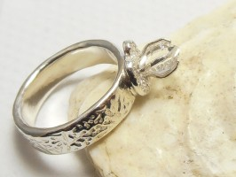 Herkimer Diamond Engagement Ring by Meropi Toumbas